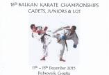 CAMPIONAT BALCANIC KARATE - CROATIA - DUBROVNIK - 11-13 DECEMBRIE 2015